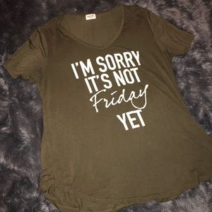Nordstrom H.I.P. Army Green Friday Top - Size 0X